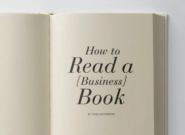 How to Read a Business Book by Todd Sattersten