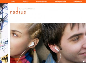 Radius Global Market Research website