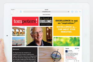 Tom Peters website homepage