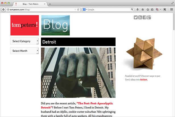 Tom Peters website - Blog