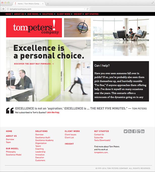 Tom Peters Website home
