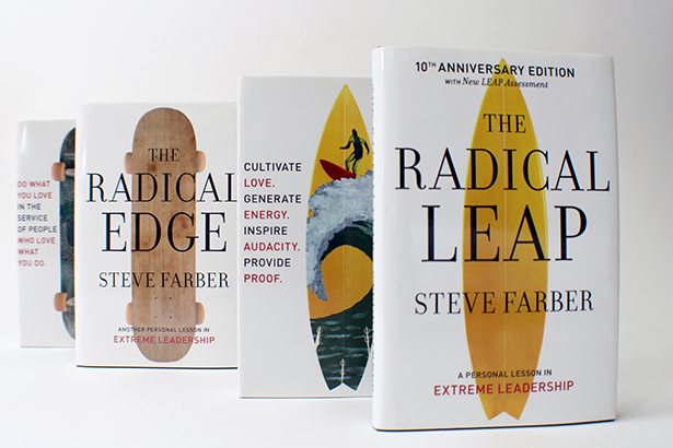 Radical Leap and Radical Edge book jackets